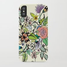 Floral Yellow iPhone X Slim Case