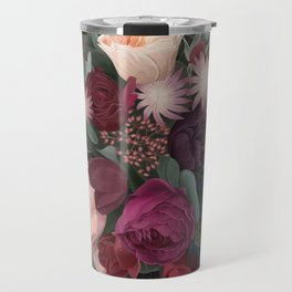 Dark florals Travel Mug