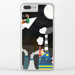 White Hope Clear iPhone Case