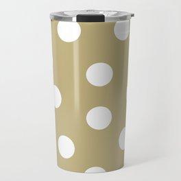 Polka Dots - Ecru and White Travel Mug