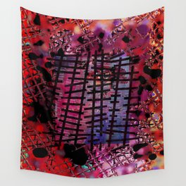 Rails on Red Wall Tapestry