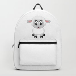 Cute Lamb Sheep Backpack
