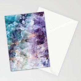 Quartz Stone - Blue and Purple Stationery Cards