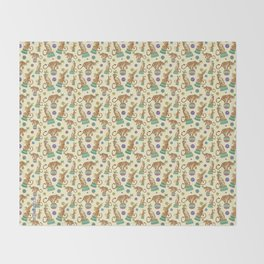 Circus Tigers Throw Blanket