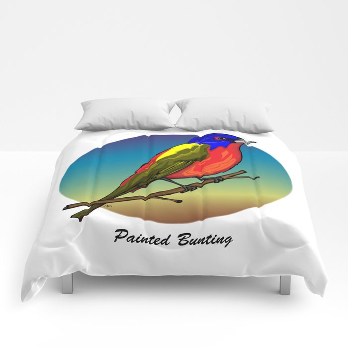 PAINTED BUNTING Comforters