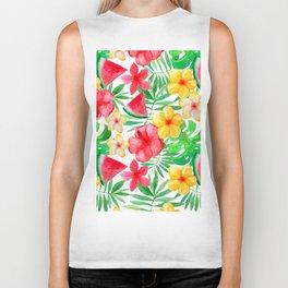 Happy Summer Life - Aloha Flowers and Melon - Pattern Biker Tank
