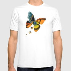 Fractal Cacoon Mens Fitted Tee MEDIUM White