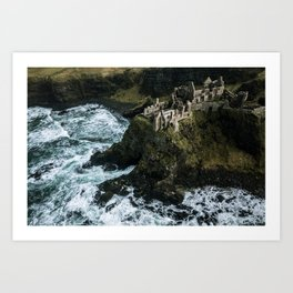 Castle ruin by the irish sea - Landscape Photography Art Print