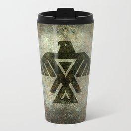 Thunderbird, Emblem of the Anishinaabe people - Vintage version Travel Mug