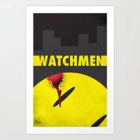 watchmen Art Prints featuring Watchmen by Thcenk