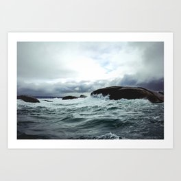 Waves at Granite Island Art Print