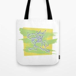 Blurry Runner Tote Bag