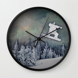 The Snowboarder Wall Clock