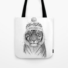 Siberian tiger (b&w) Tote Bag