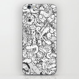 Alphabetcha Collage b&w iPhone Skin
