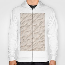 Beige Cableknit Sweater Hoody