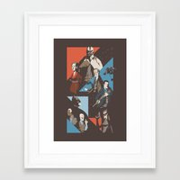 pain Framed Art Prints featuring Pain by Florey