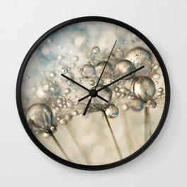 Sapphire & Silver Sparkle Wall Clock