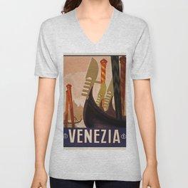 Vintage poster - Venezia Unisex V-Neck