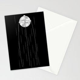 Sputnik Chalk Drawing Stationery Cards