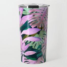 Tropical Night Magenta & Emerald Jungle Travel Mug