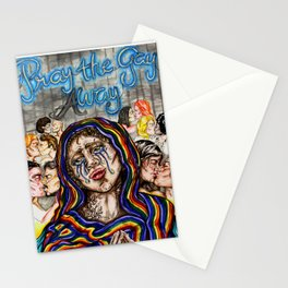 PRAY THE GAY aWAY Stationery Cards