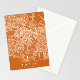 Sofia Bulgaria Map | Coffee & Green | More Colors, Review My Collections Stationery Cards