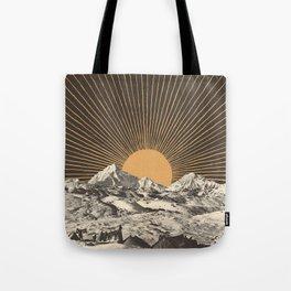 Mountainscape 6 - Night Sun Tote Bag