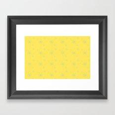 Spiral Pattern - yellow Framed Art Print