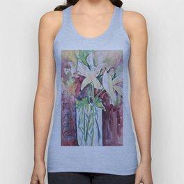 Wild Flowers in Color, Watercolors Unisex Tank Top
