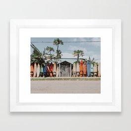 lets surf vi / summer surfboards in maui, hawaii Framed Art Print