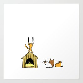 Dog house. Art Print