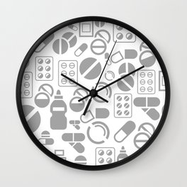 Tablet a background Wall Clock