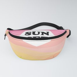 POLIGONAL SUNSET Fanny Pack