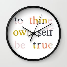 be true Wall Clock