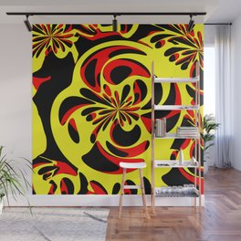 Yellow red and black Wall Mural