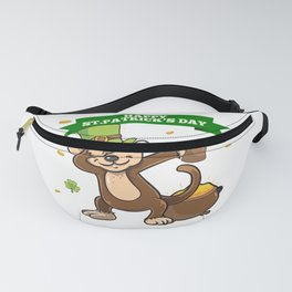 Funny Monkey St Patricks day design - perfect for Ireland fan Fanny Pack