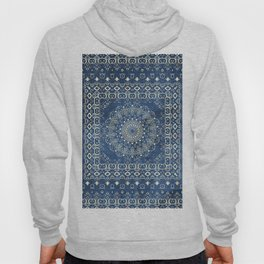 Old Bookshop Magic Mandala in Blue Hoody