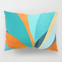 Abstract Tropical Foliage Pillow Sham