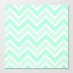 TWO-TONE MINT CHEVRON Canvas Print