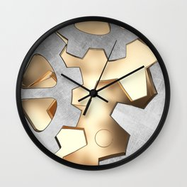 Abstract with the gears Wall Clock