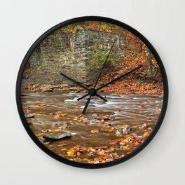 Rustic Fall Creek Wall Clock