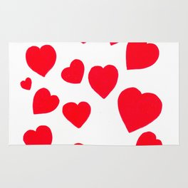 Red Hearts Rug