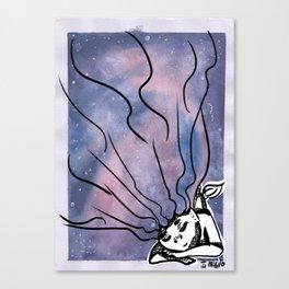Sleeping Space Mermaid Canvas Print