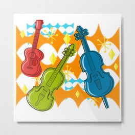 Sunny Grappelli String Jazz Trio Composition Metal Print