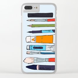 Weapons of choice Clear iPhone Case
