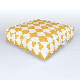 Butter Yellow Modern Diamond Pattern Outdoor Floor Cushion