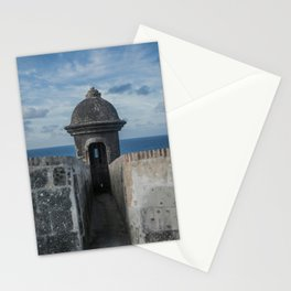 Fortification walls in Puerto Rico Stationery Cards