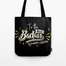 Badass Woman Tote Bag