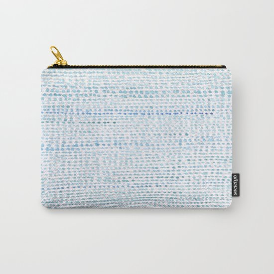 BLUE/GREEN DOTTED PATTERN  Carry-All Pouch